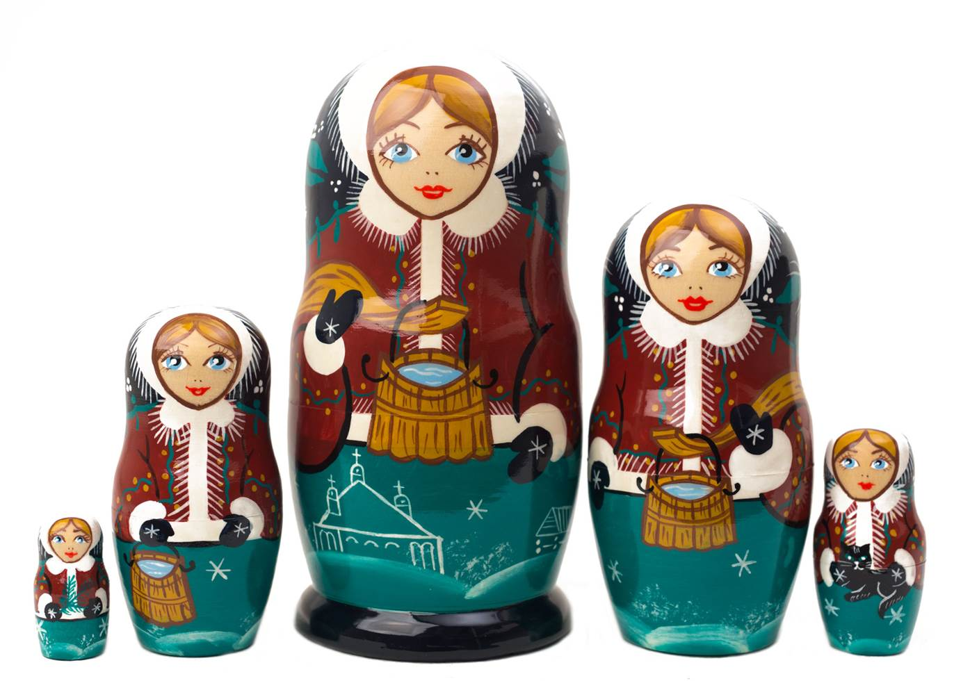 "Buy Water Carrier Classical Doll 5pc./6"" at GoldenCockerel.com"