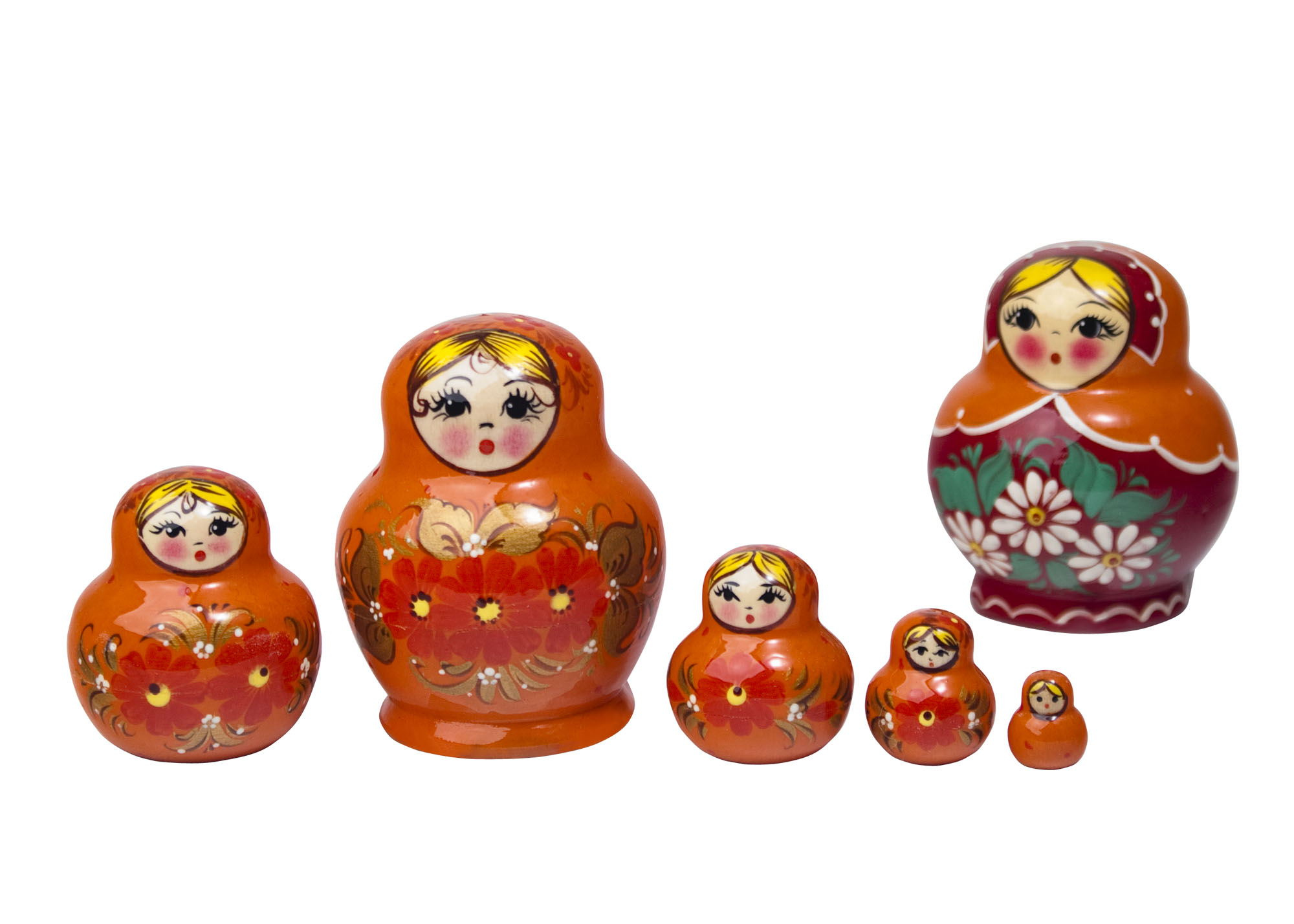 "Buy Nolinsk Orange Potbelly Doll 5pc./3"" at GoldenCockerel.com"