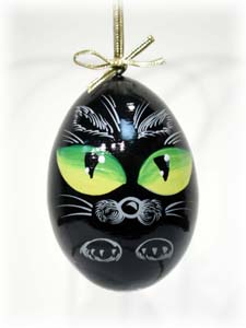"Buy Cat Eyes Ornament 3"" at GoldenCockerel.com"