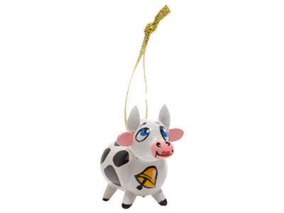 Holstein Cow Ornament  2""