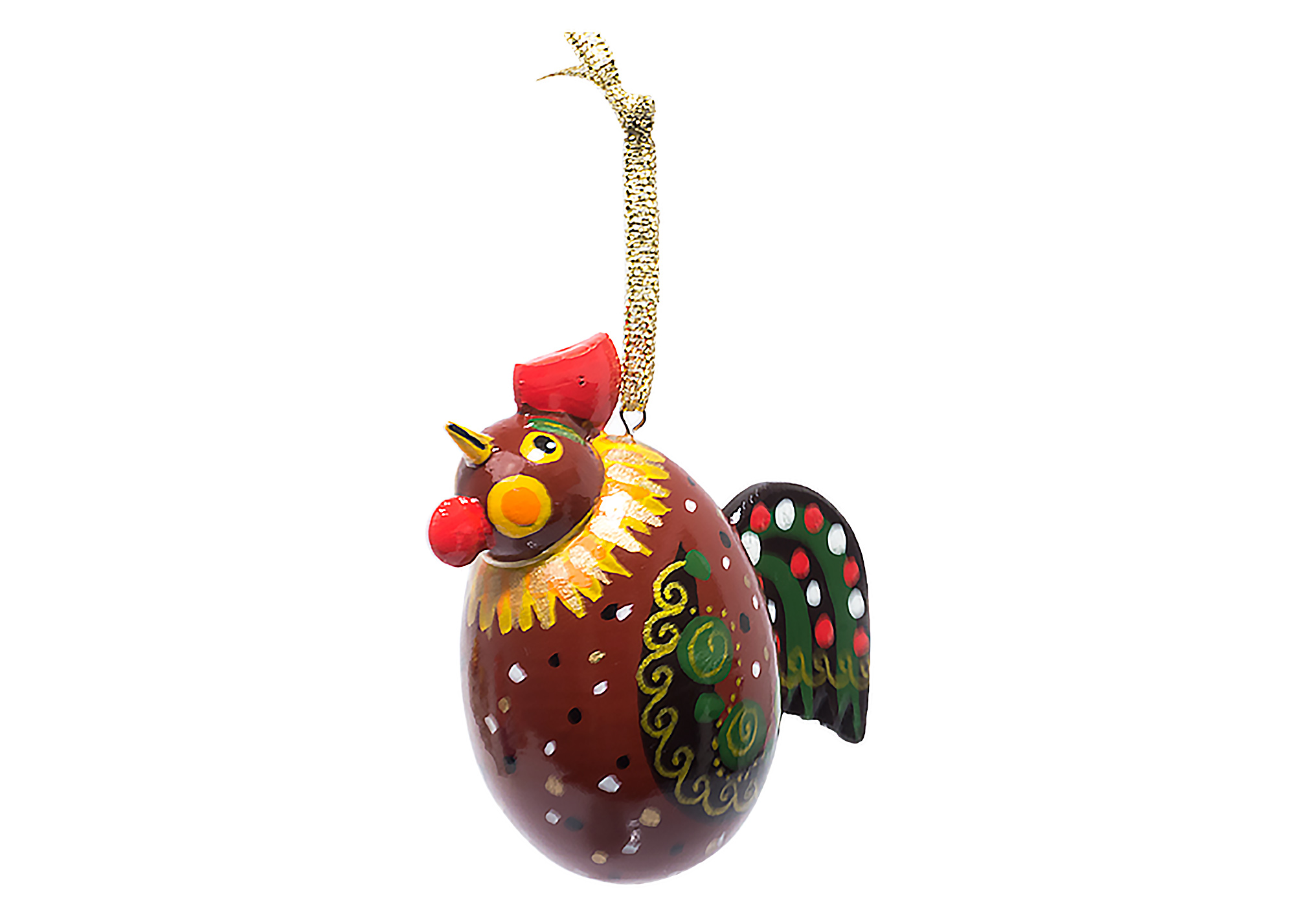 "Buy Rooster Ornament  2"" at GoldenCockerel.com"