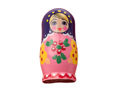"Buy Matryoshka Realistic Brooch .9""x1.7"" at GoldenCockerel.com"