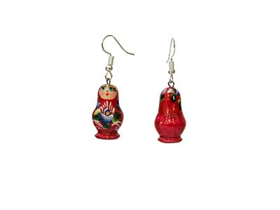 "Buy Matryoshka Earrings .4""x.7"" at GoldenCockerel.com"