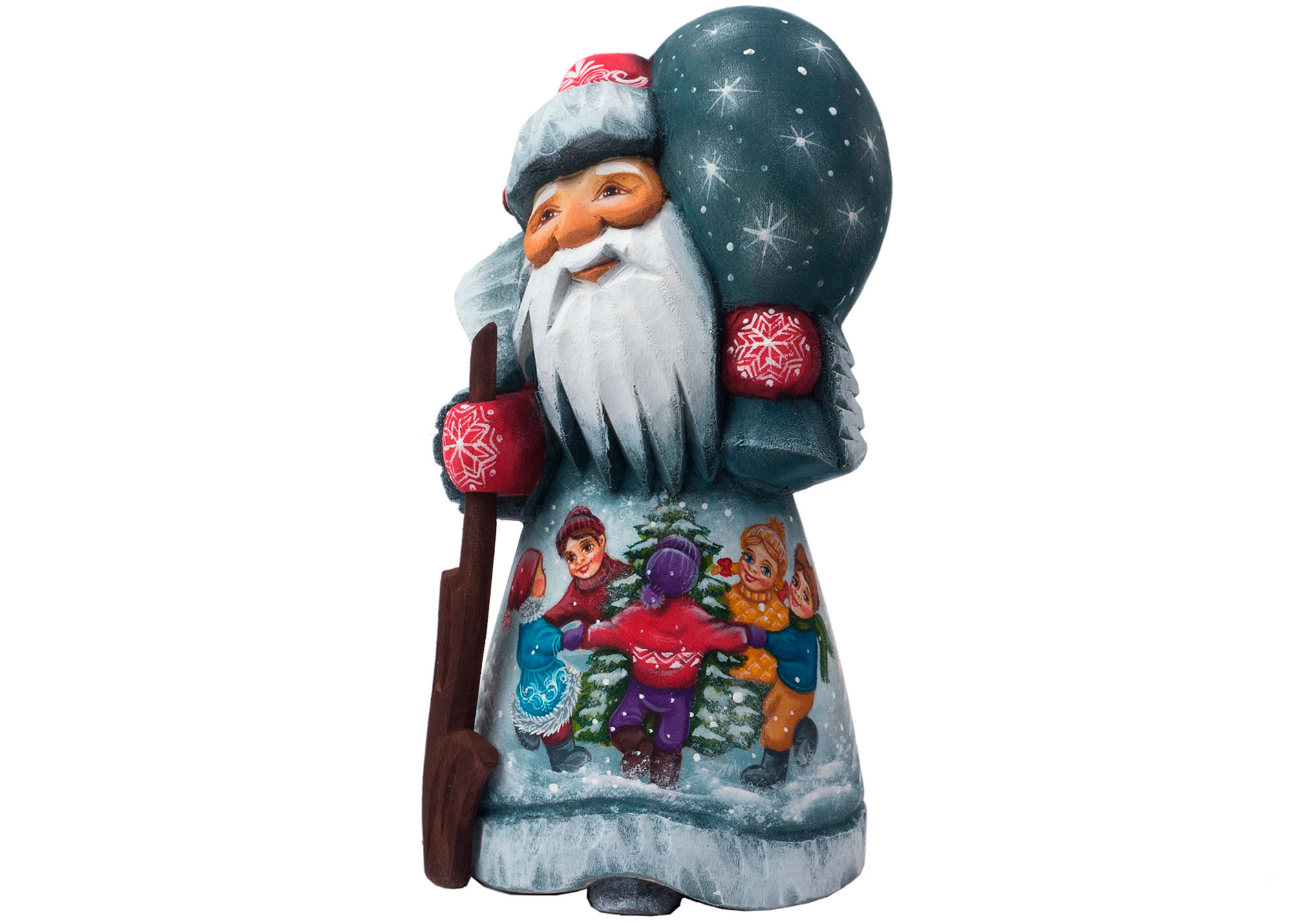"Buy Assorted Father Frost Carving 4"" by Besedovskaia at GoldenCockerel.com"