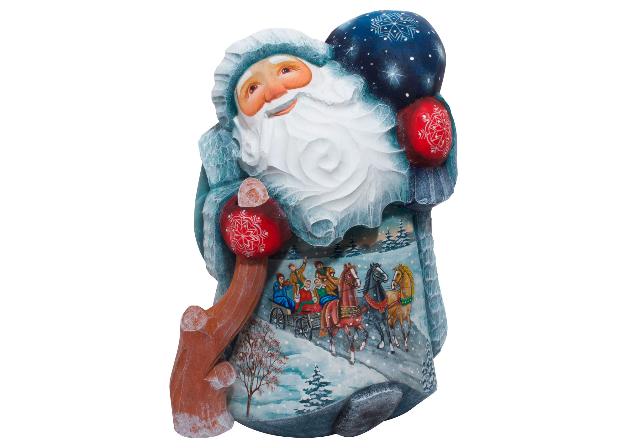 Buy Winter Troika Father Frost Carving at GoldenCockerel.com