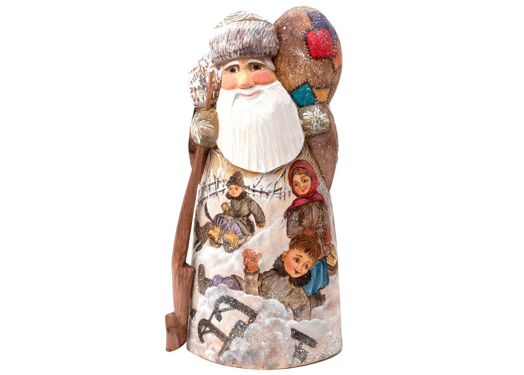 Buy Snow Play (Sledding) Father Frost Carving at GoldenCockerel.com