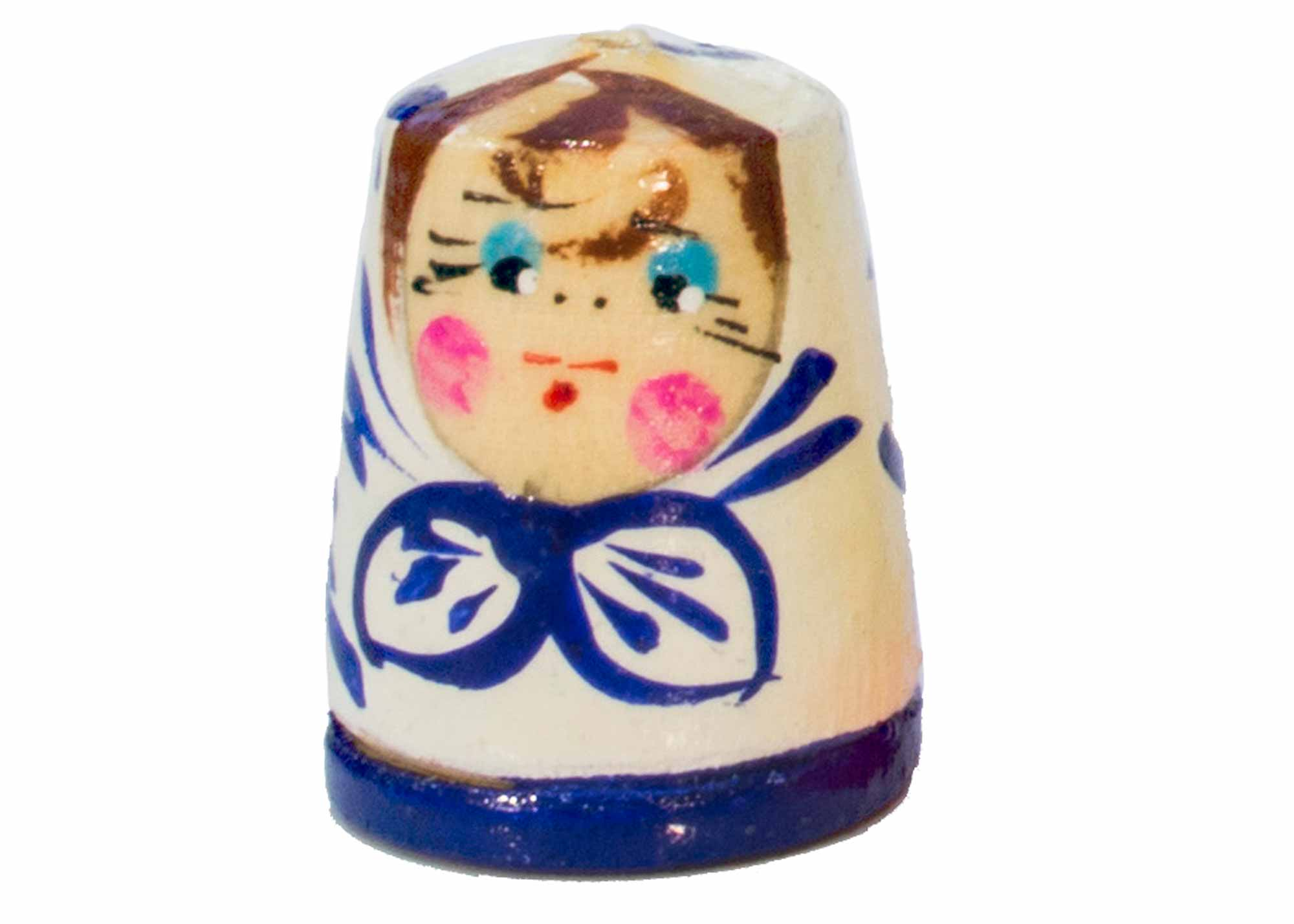 "Buy Matryoshka Thimble, Wood 1.2"" at GoldenCockerel.com"