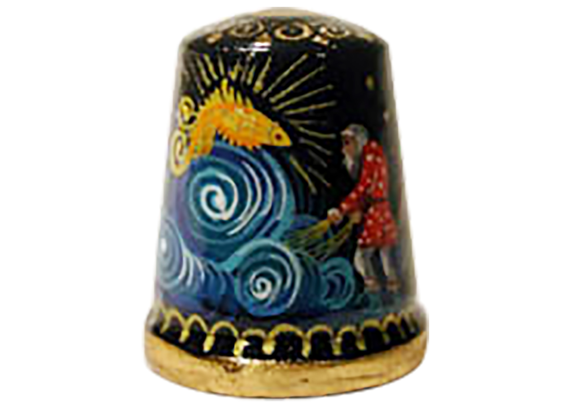 "Buy The Gold Fish Fairy Tale Thimble, Wood 1"" at GoldenCockerel.com"