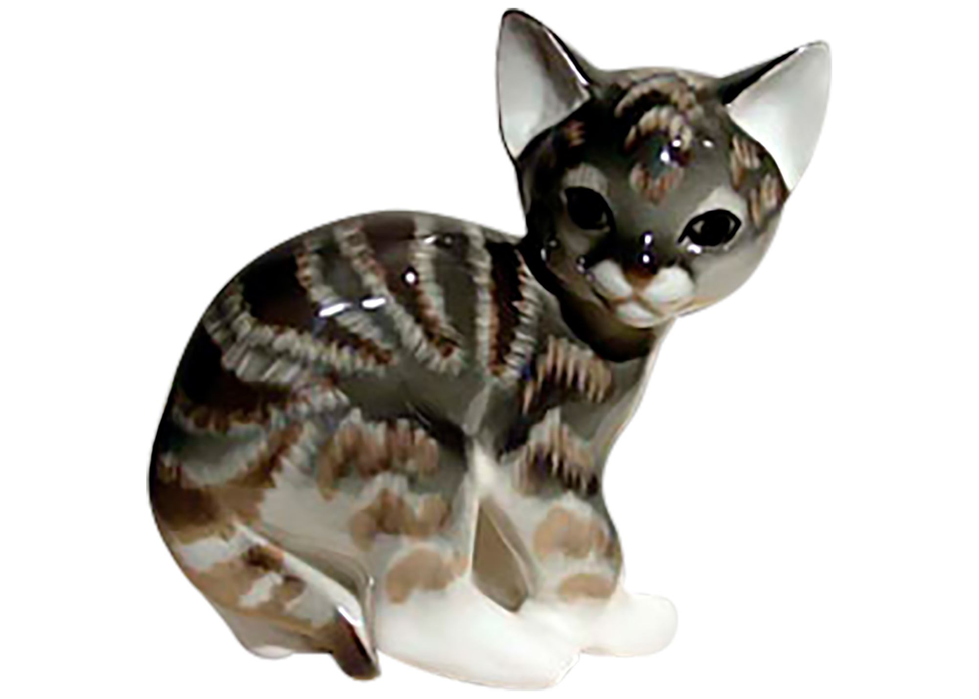 Buy Gray Tabby Kitten Figurine at GoldenCockerel.com