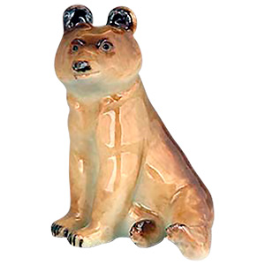 Curious Kodiak Bear Cub Figurine