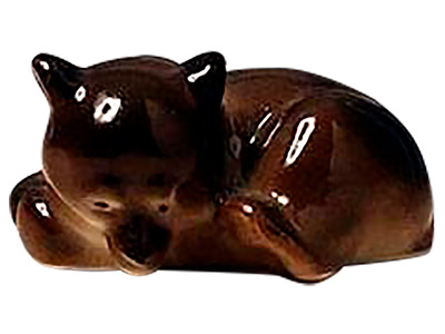 Sleeping Brown Bear Cub Figurine