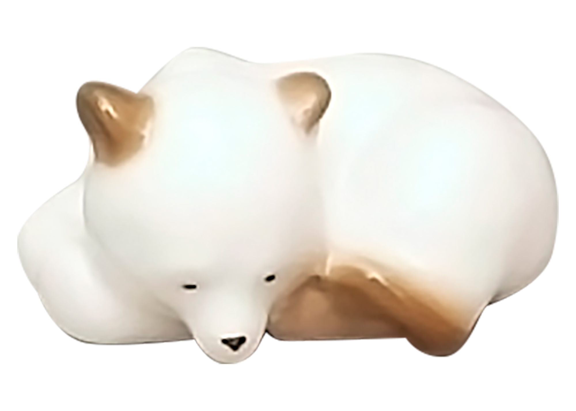 Buy Sleeping Polar Bear Cub Figurine at GoldenCockerel.com