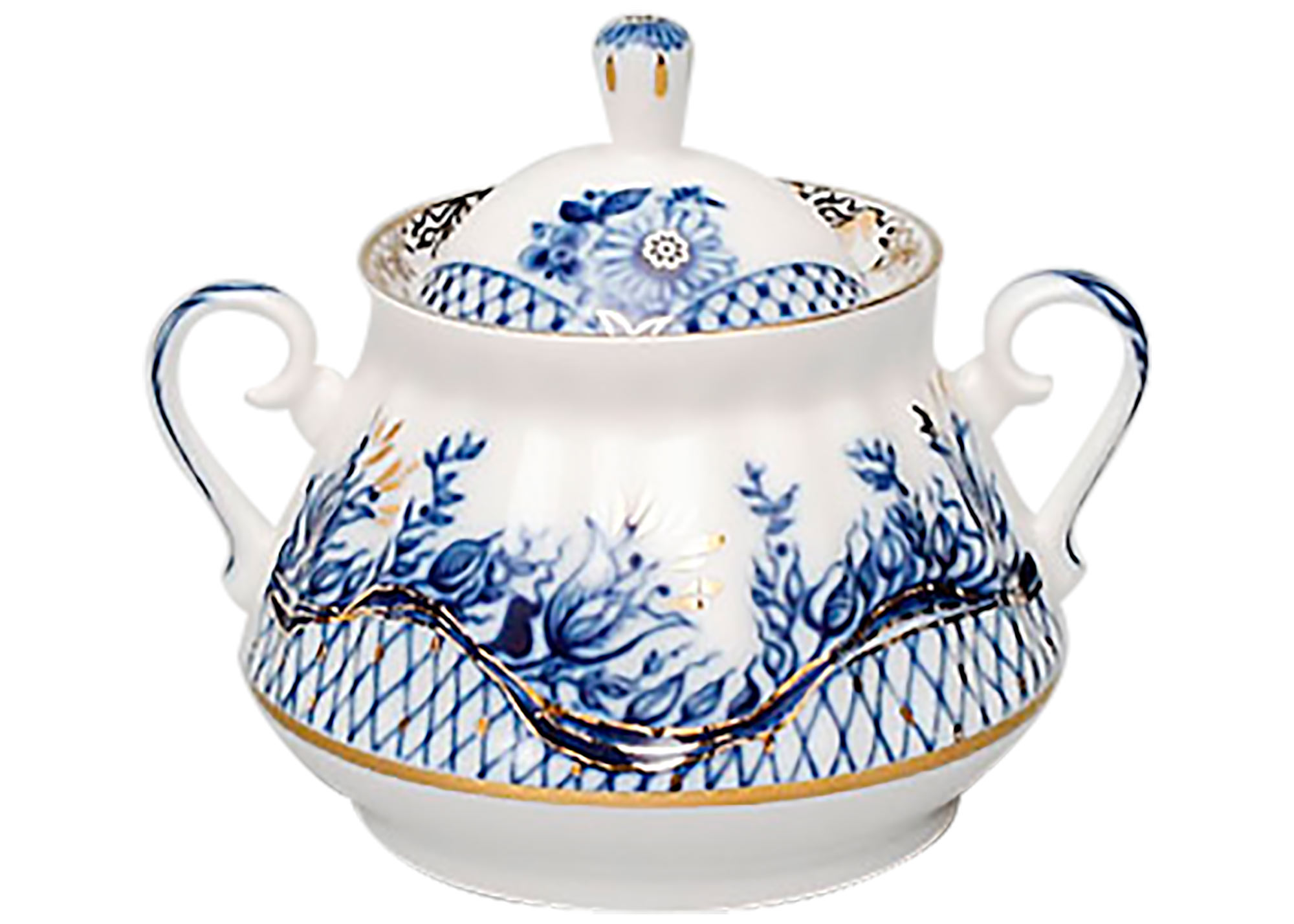 Buy Blue Rhapsody Sugar Bowl at GoldenCockerel.com