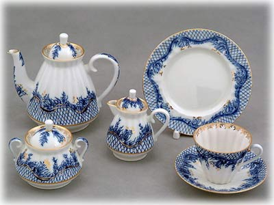 Buy Blue Rhapsody Tea Set 21 pcs at GoldenCockerel.com