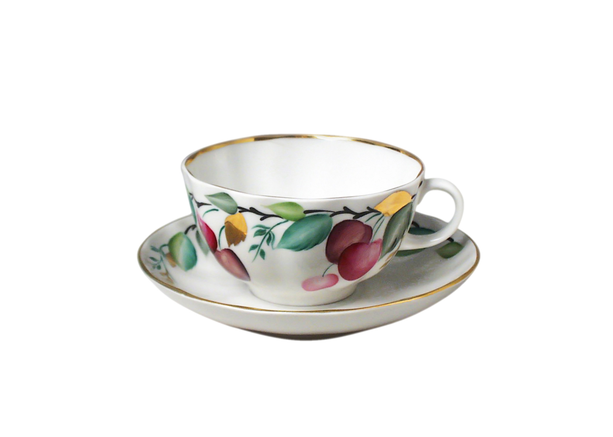 Buy Cherry Tea Cup and Saucer at GoldenCockerel.com