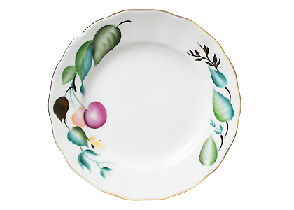 Cherry Coffee Dessert Plate 6""
