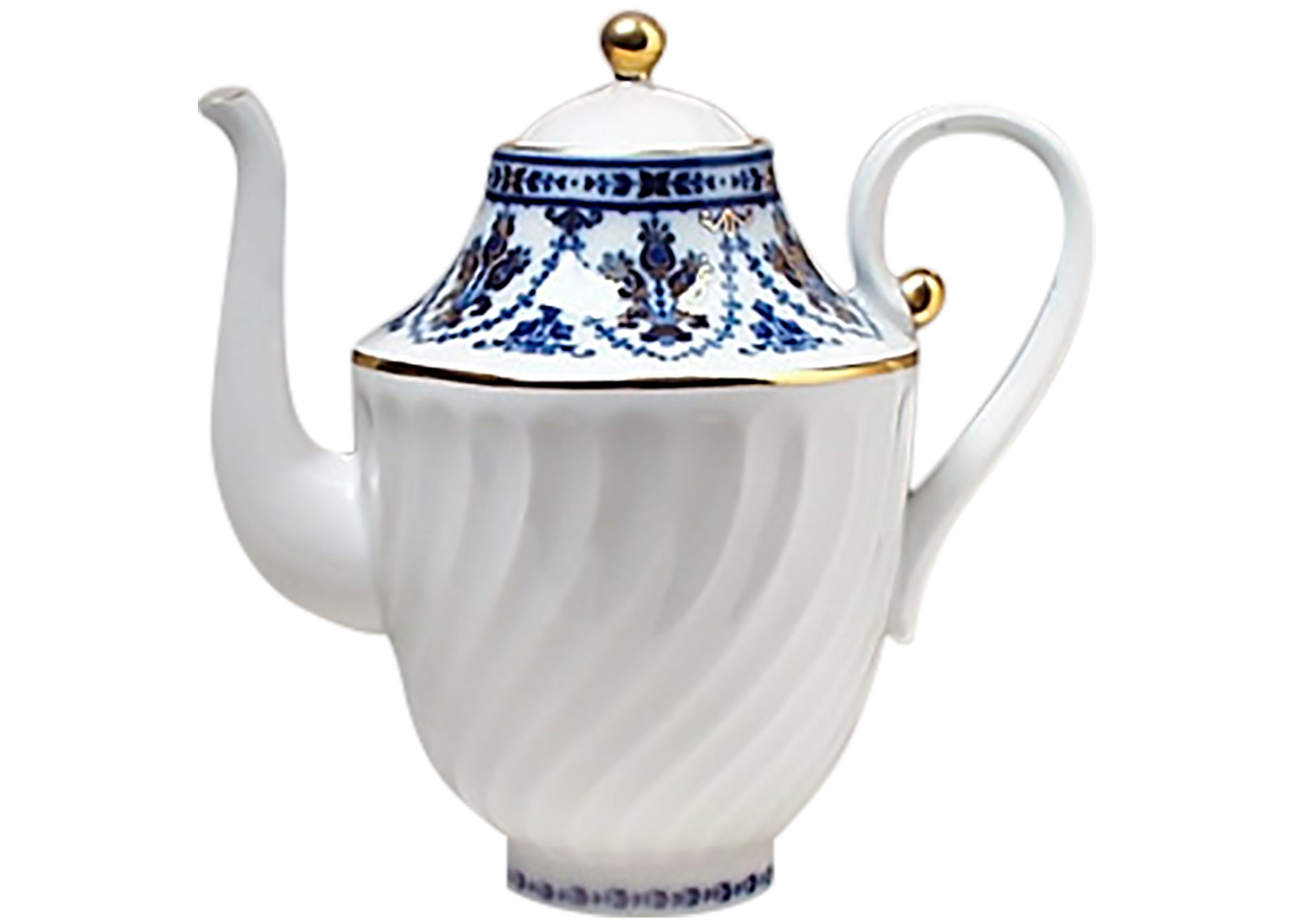 Buy Cobalt Frieze Coffeepot at GoldenCockerel.com
