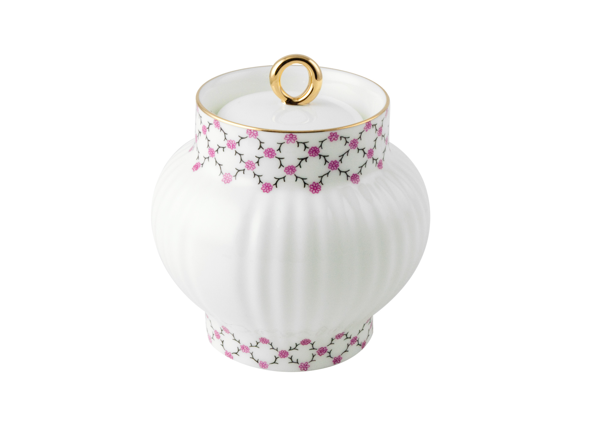 Buy Pink Net Sugar Bowl at GoldenCockerel.com