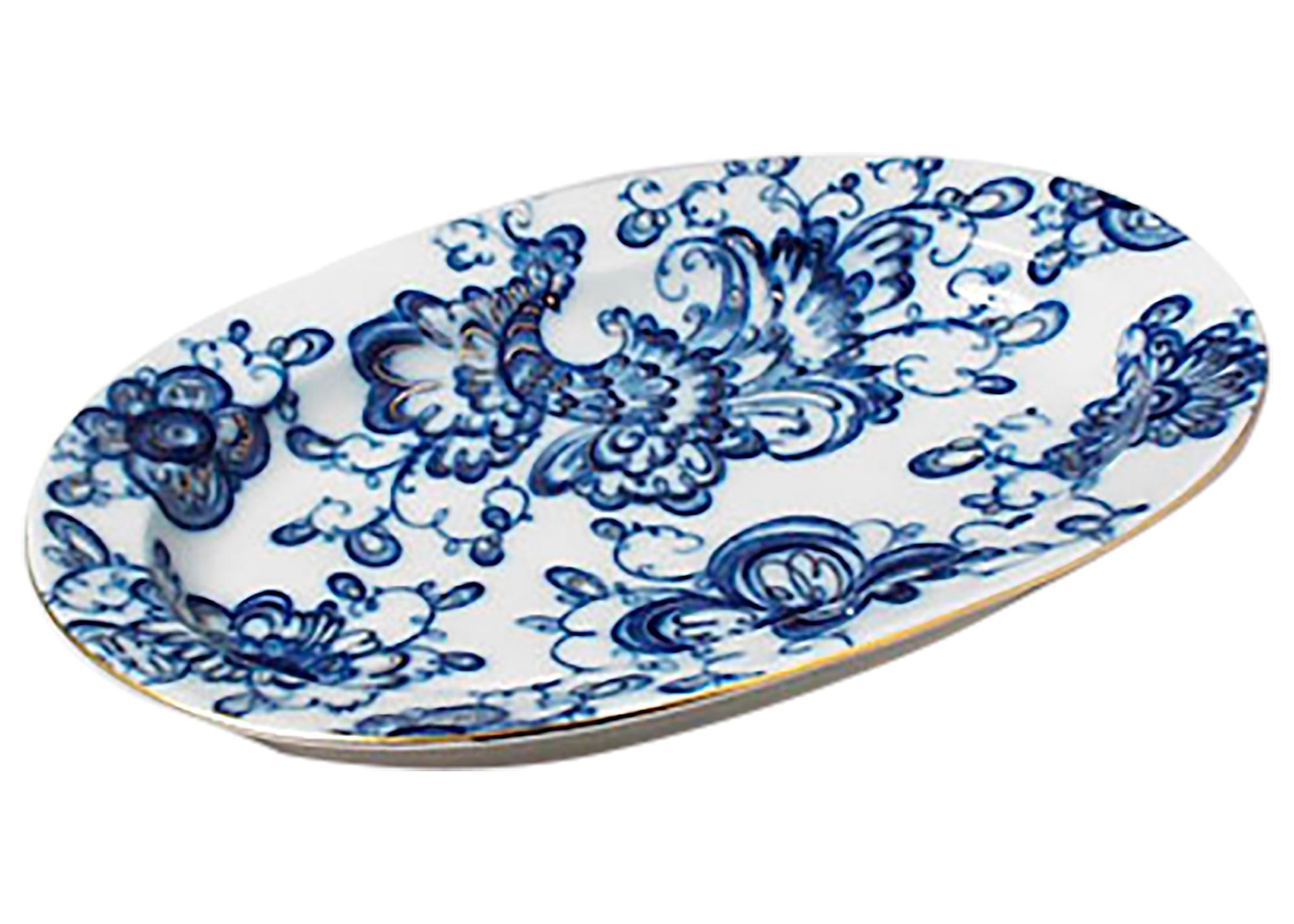 "Buy Singing Garden Oval Platter 12"" at GoldenCockerel.com"