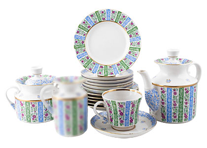 Buy Springtime Tea Set, 20 pieces at GoldenCockerel.com
