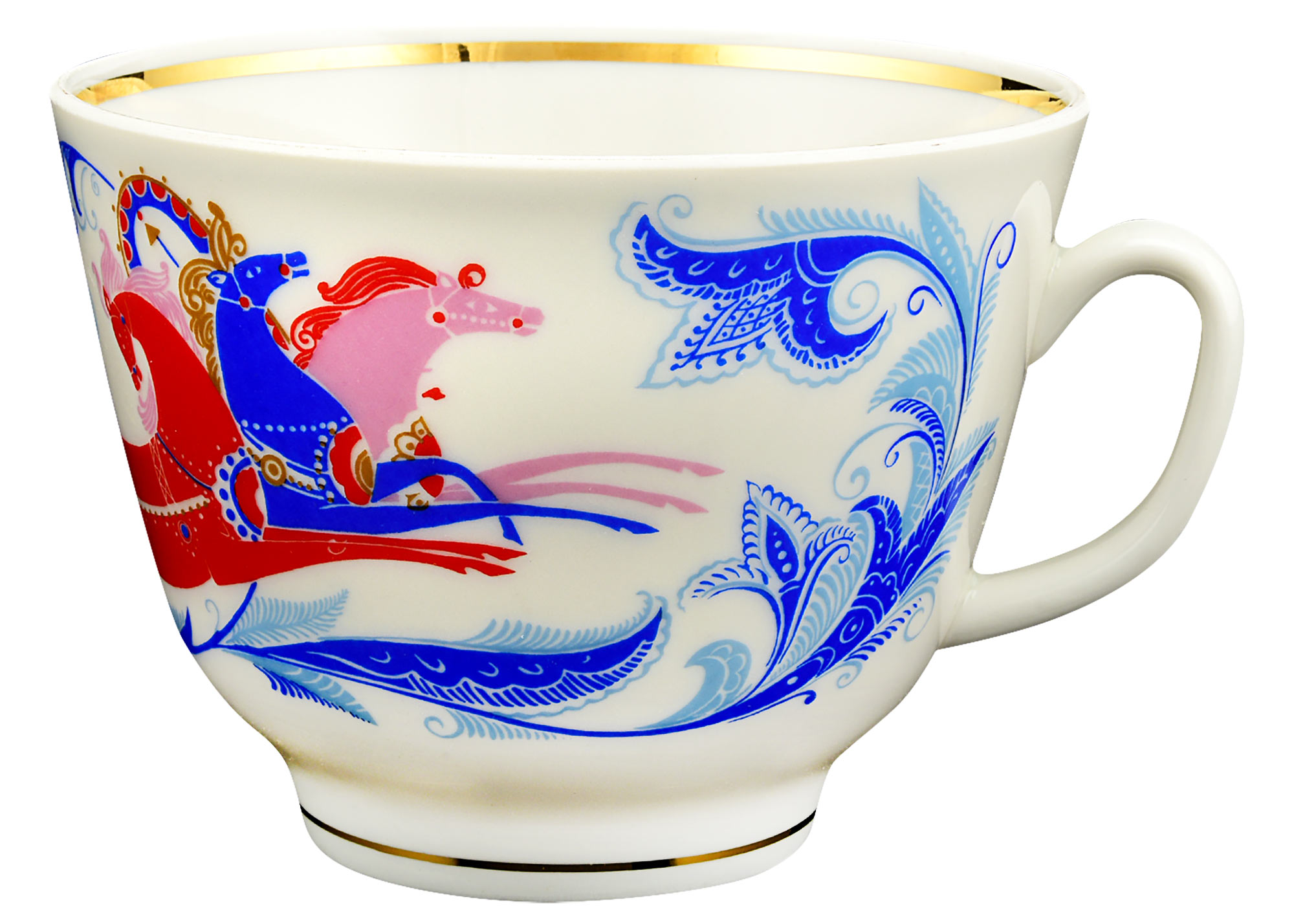Buy Russian Winter Troika Tea Cup and Saucer at GoldenCockerel.com