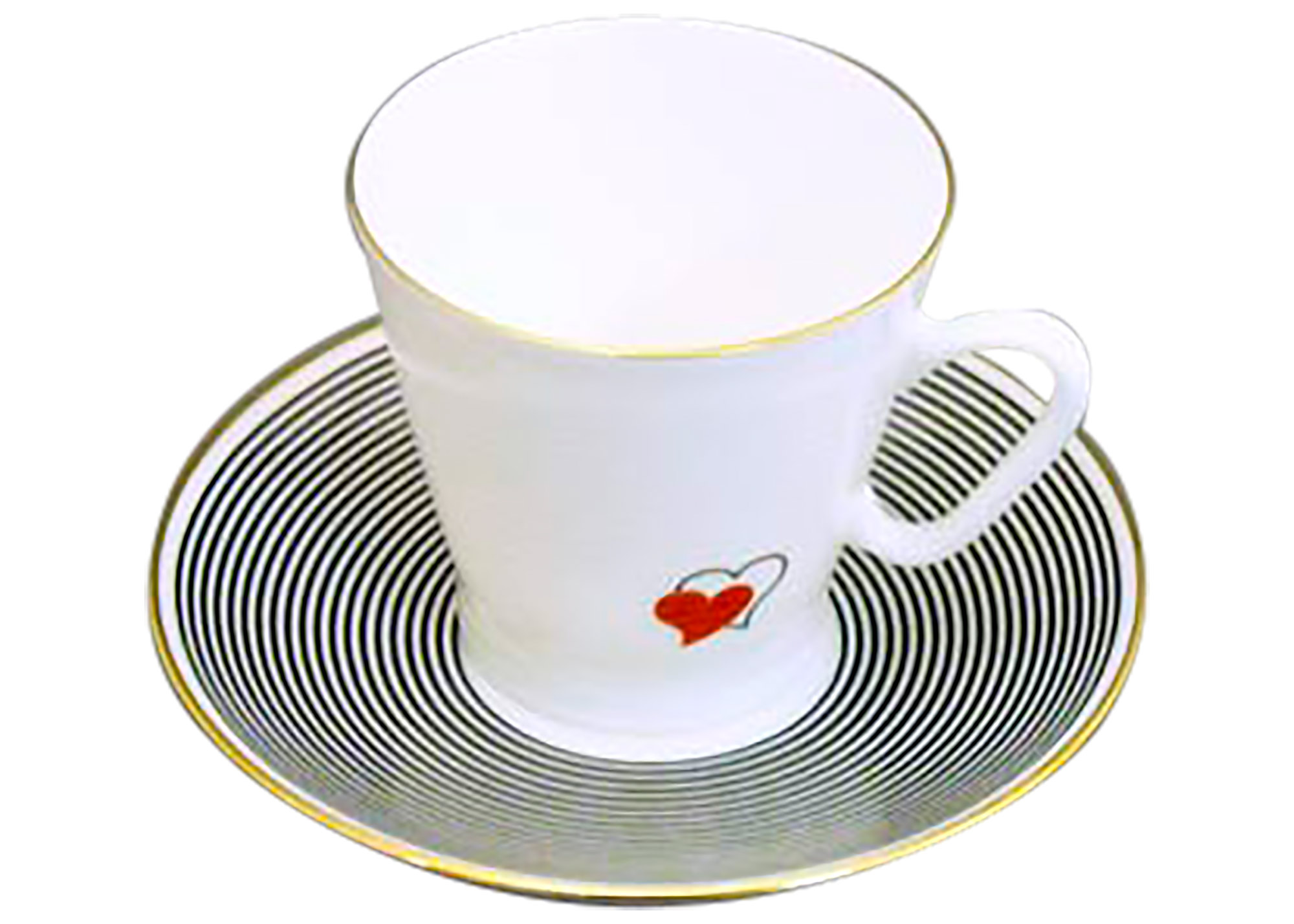Buy Valentine Hearts Espresso Cup and Saucer at GoldenCockerel.com