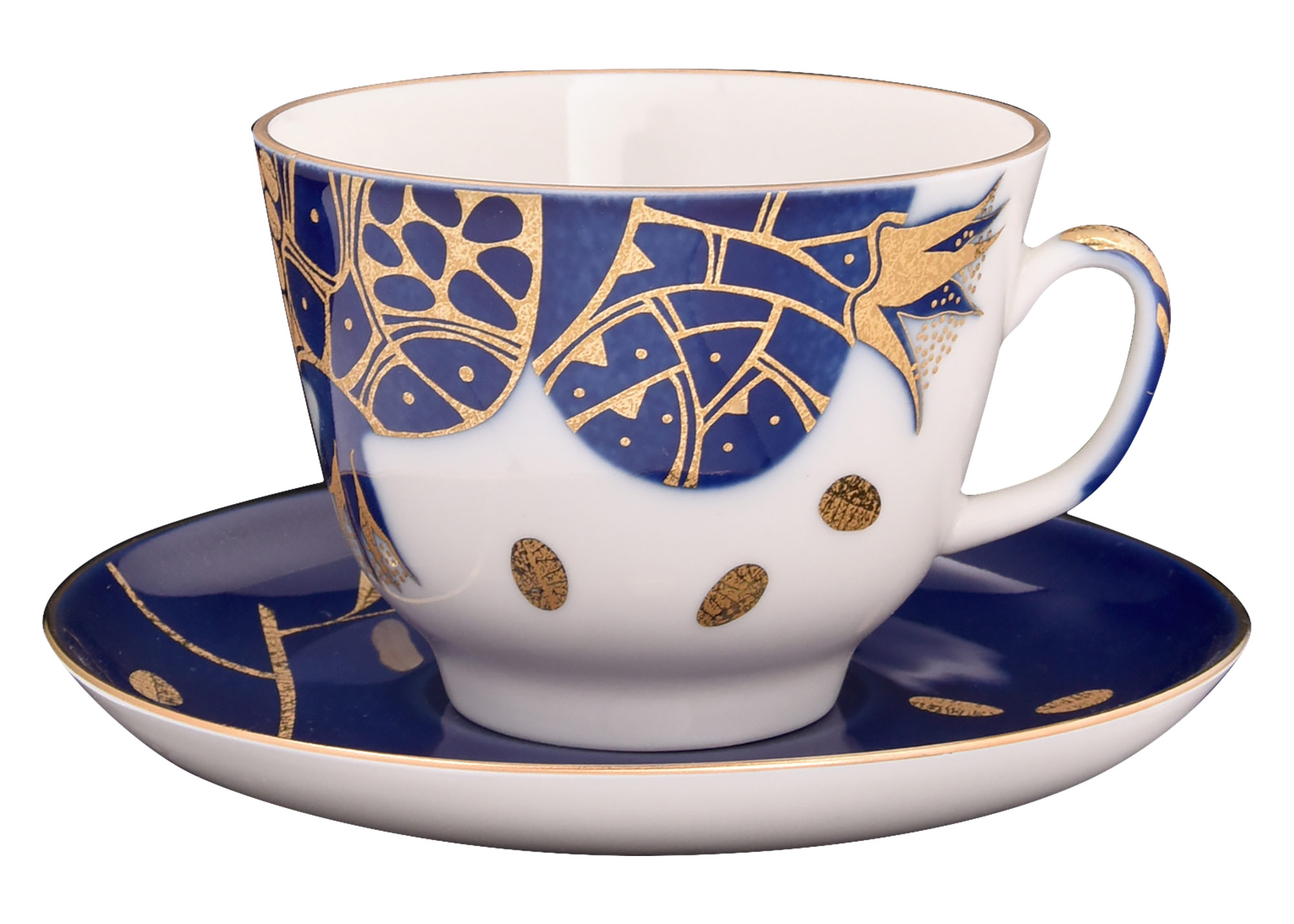 Buy Gold Pomegranate Tea Cup and Saucer at GoldenCockerel.com